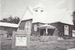 Presbyterian Church being refaced with brick