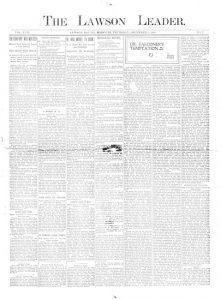 Lawson Leader - December 1, 1898