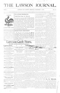 Lawson Journal - December 7, 1899