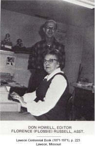 "Don Howell, Editor; Florence ""Flossie"" Russell, Assistant"