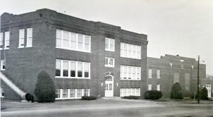 School after the gymnasium was added in 1949
