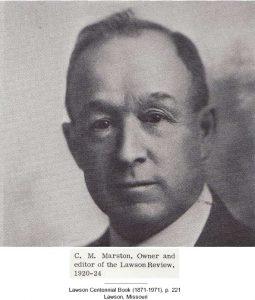 C. M. Marston