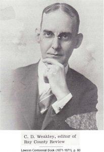 C. D. Weakley